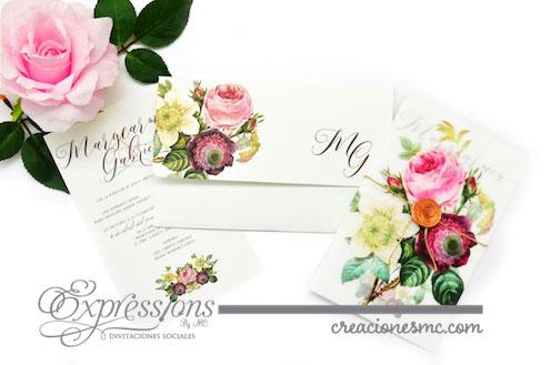 expressions invitaciones mod. marycarmen y gabriel - Invitaciones Boda