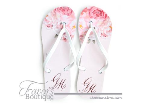 creaciones mc sandalias personalizadas rosas y nude - Sandalias