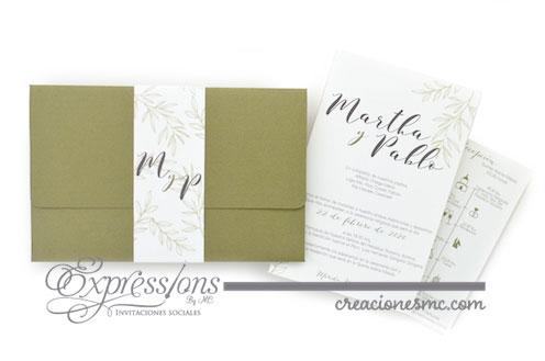 expressions invitaciones mod. Martha y Pablo boda - Invitaciones Boda