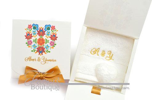 creaciones mc recuerdos personalizados boda kit de toalla y jabón - Recuerdos Boda