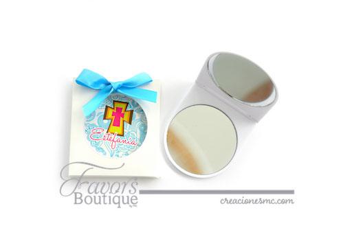 creaciones mc espejo personalizado bautizo - Recuerdos Baby Shower