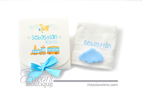 creaciones mc recuerdos bautizo kit toalla y jabon - Recuerdos Bautizo
