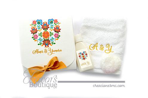 creaciones mc recuerdos boda kit toalla crema y jabon - Recuerdos Boda