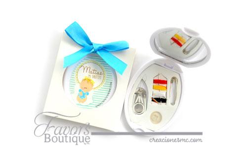 creacionesmc costurero personalizado bautizo - Recuerdos Baby Shower