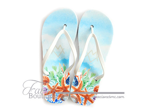 creaciones mc sandalias personalizadas boda playa - Sandalias