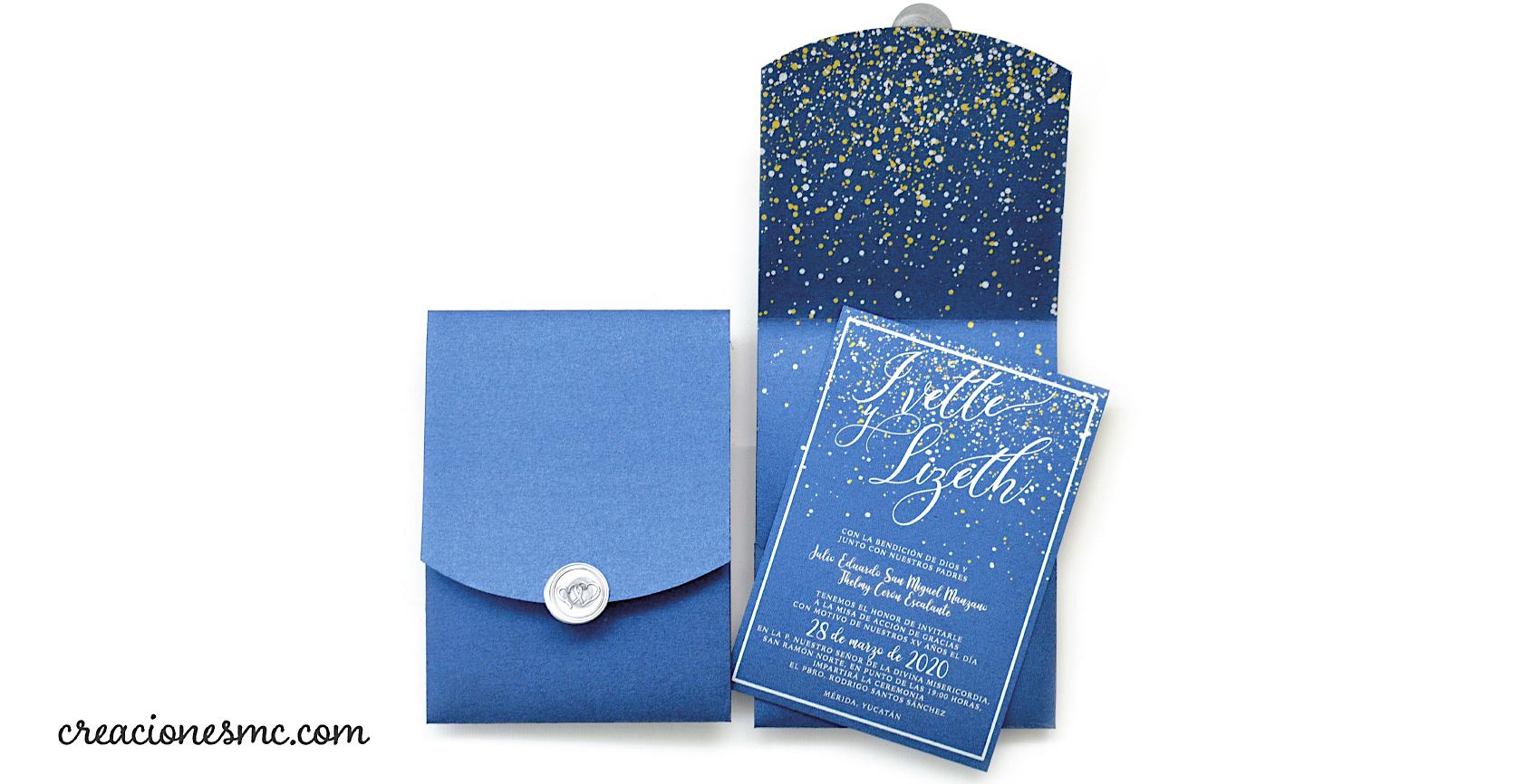 expressions invitaciones xv años azules plata y dorado - Inicio
